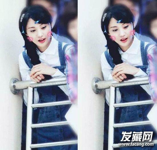 新晋校园女神示范学生发型(2)  导读:郑爽在拍的微微一笑很倾城的剧照图片