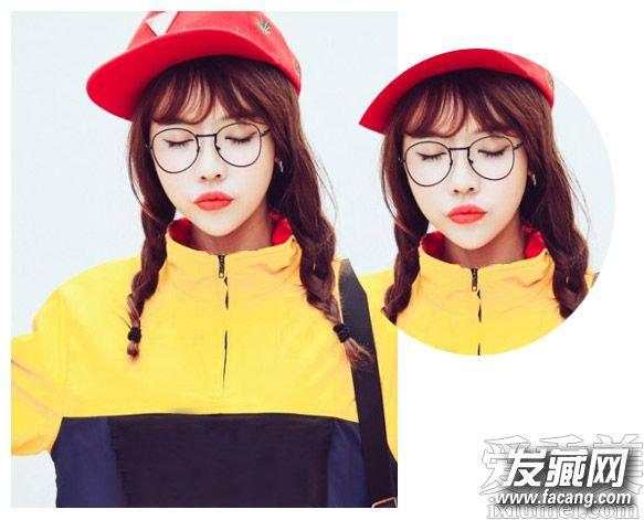 手绘服装设计刘海少女