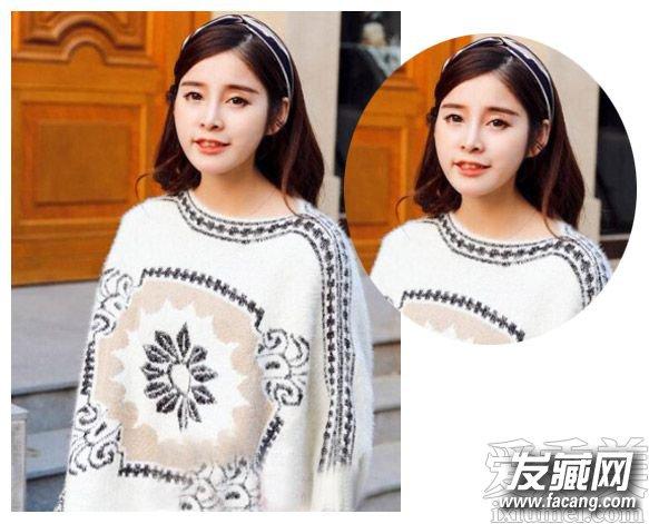 圆脸适合的发型图片 空气刘海时尚甜美发型(3)
