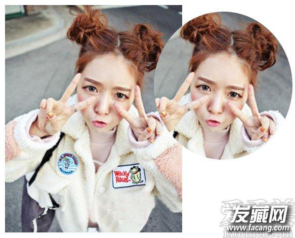 圆脸适合的发型图片 空气刘海时尚甜美发型(4)