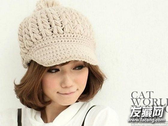 冬天短发如何戴帽子 漂亮的空气刘海短发(2)