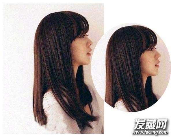 齐肩直发发型图片 柔顺的齐发尾中长直发发型(3)图片