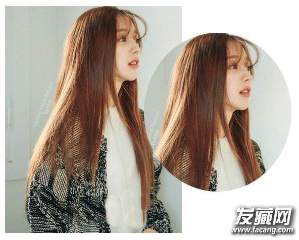 齐肩直发发型图片 柔顺的齐发尾中长直发发型(4)图片