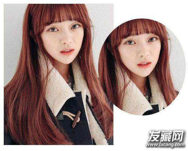 五种适合圆脸的空气刘海发型 →五款好看风格迥异的空气刘海发型图片