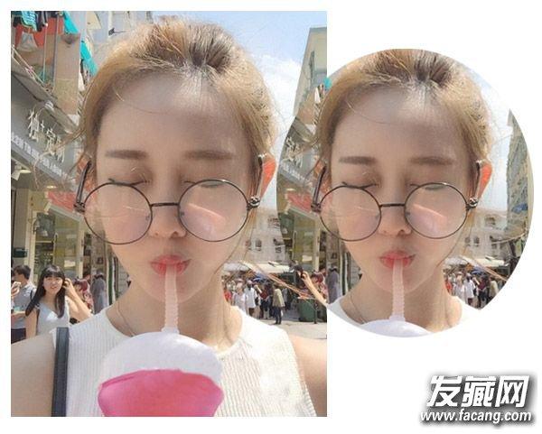 女生戴眼镜适合留什么发型九      俏皮可爱的花苞头搭配起来