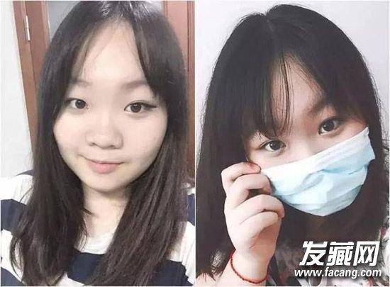 韩国女生都在哈的八字刘海 →春季女生空气刘海发型图片 秒变小清新!图片