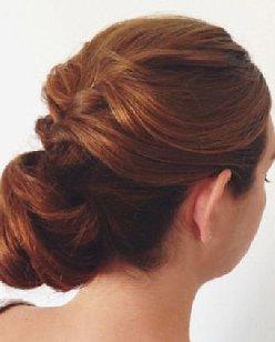 无刘海盘发教程 冬季发型盘发发型设计