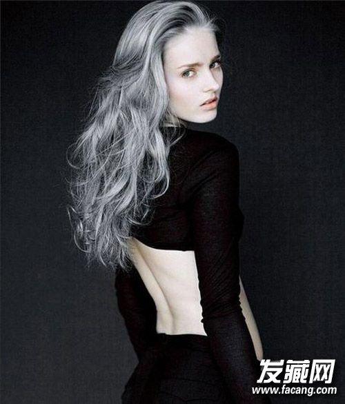 发型网 发型图片 刘海发型图片       victoria magrath的紫灰色头发