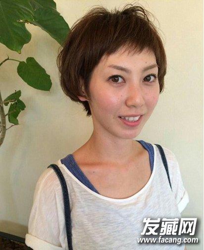 短发发型图片2015女 细碎韩式刘海发型