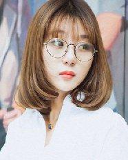 女生梨花头发型图片 甜美呆萌的韩式梨花头发型设计