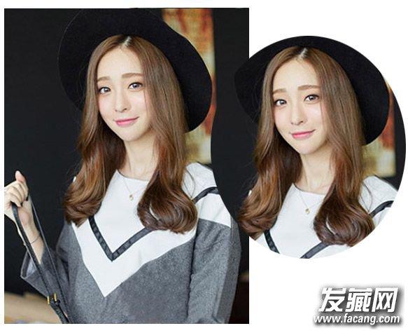 秋冬女生中长发图片 清新灵动感空气感刘海发型(2)图片