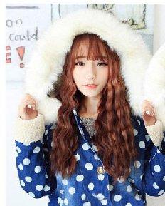可爱甜美风蛋卷头长发发型 韩式蛋花卷你get了吗