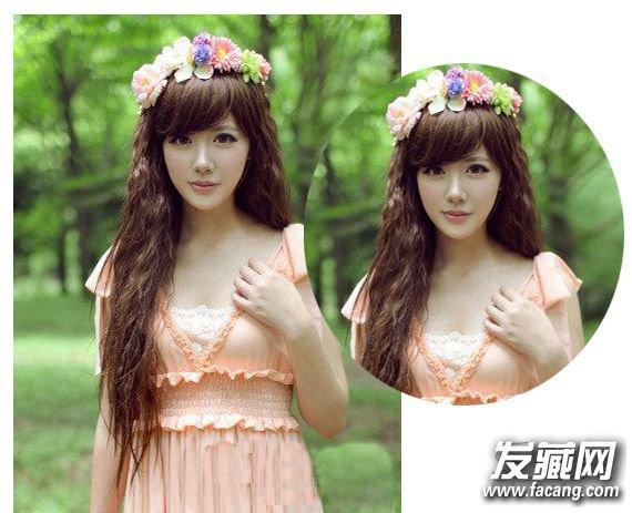 可爱甜美风蛋卷头长发发型 韩式蛋花卷你get了吗(2)