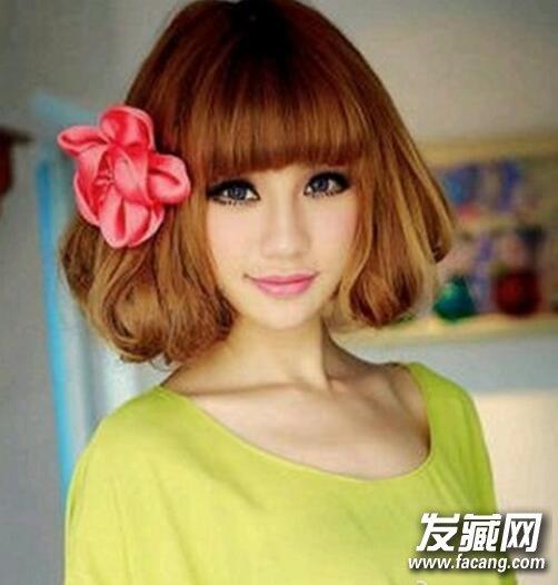 韩国荷叶头发型图片2