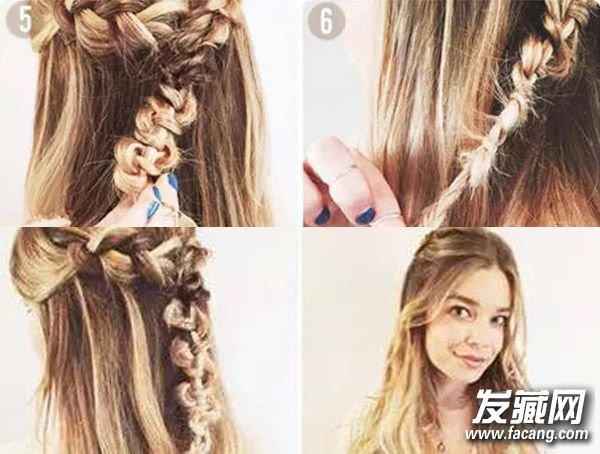 冬季长发怎么扎好看 时髦公主头发型(4)