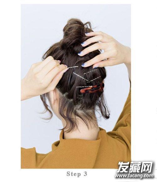 俏皮可爱的丸子头扎法 2款实用短发发型扎法(2)