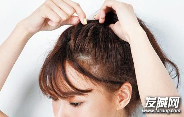 蓬松高马尾辫扎法图解 蓬松马尾辫发型设计(4)
