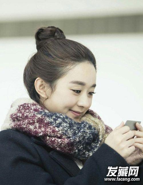 包子脸的赵丽颖 马尾辫更是可爱(3)
