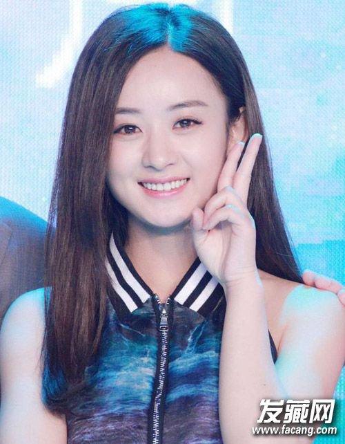 包子脸的赵丽颖 马尾辫更是可爱(4)