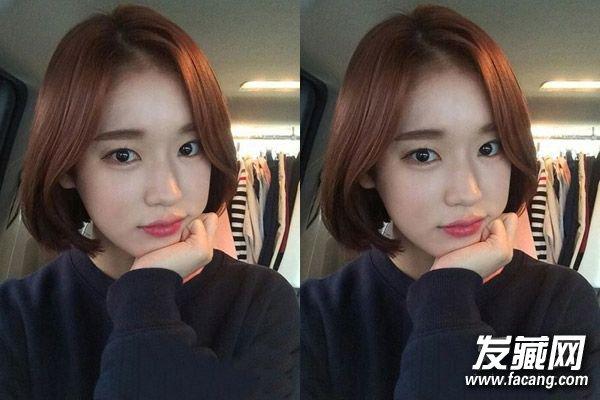发型网 发型设计 短发发型 > 甜美可人的韩式大脸发型设计 有没有一