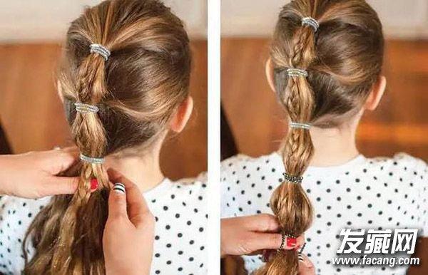 如果你发量少,头发干枯的话,建议在做的过程中使用卷发棒将头发卷得