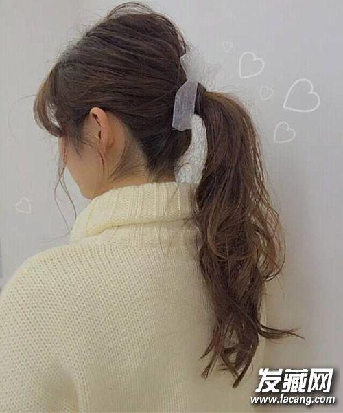 马尾&丸子头 高领毛衣配什么发型好(2)