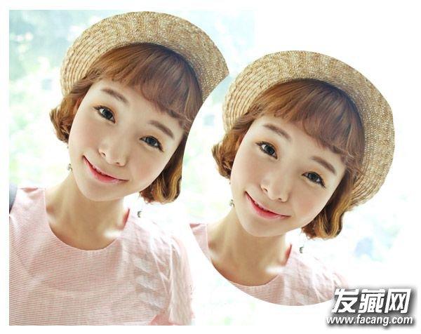 韩式刘海短发二 一示随意 →剪头发的时候 修颜首选的5种刘海发型图片