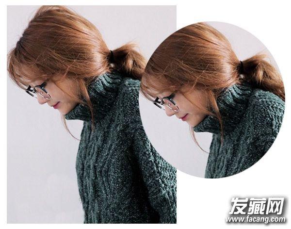冬天马尾辫怎么扎好看 精致的圆脸马尾发型设计(2)