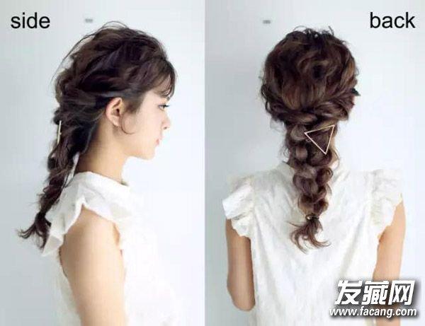 【图】卷发怎么扎好看 学两款简单编发_女生卷发发型