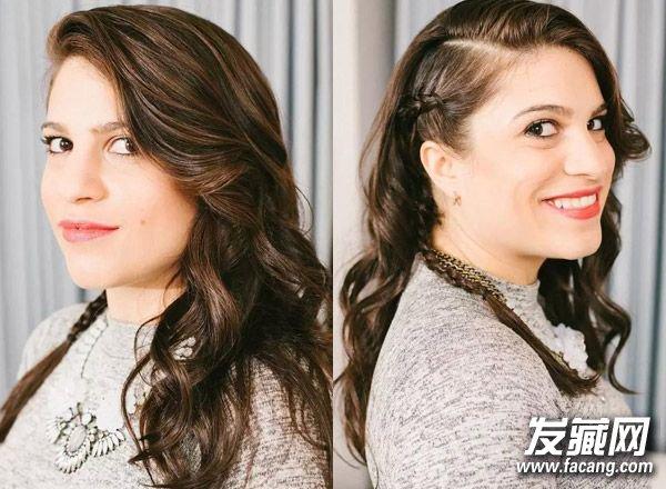 > 卷发怎么扎好看 学两款简单编发(2)  导读:蓬松卷发搭配侧编发可是图片