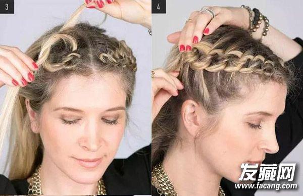 简单好看的发型 个性盘发教程图解(2)图片