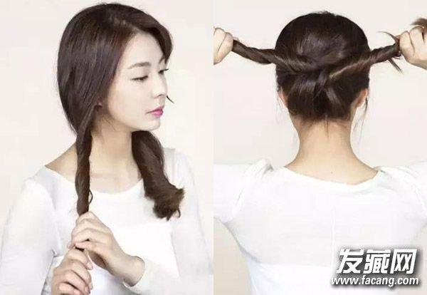 发型网 女生发型 女生长发发型 > 森系女孩的花环编发发型 3款简单