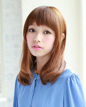 日系甜美发型中长发提升妹子可爱
