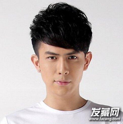 【图】2016帅气男生斜刘海发型图片