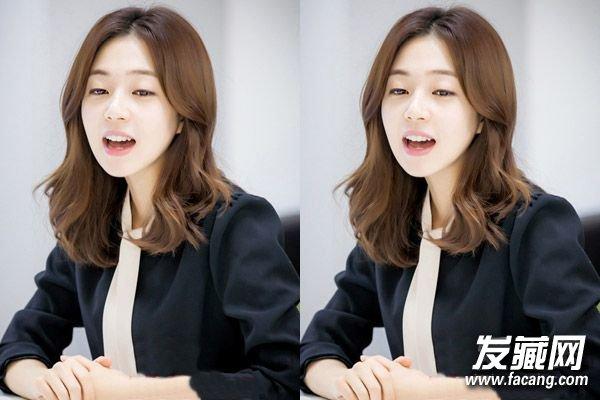 发型网 流行发型 刘海发型 > 圆脸适合的发型图片 韩式中分刘海发型