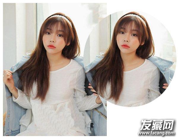 【图】精选圆脸女生刘海发型图片