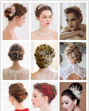 梦幻唯美的新娘盘发图片,准新娘美美出嫁!