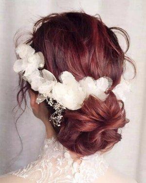 美翻了!甜美优雅的韩式新娘盘发图片欣赏