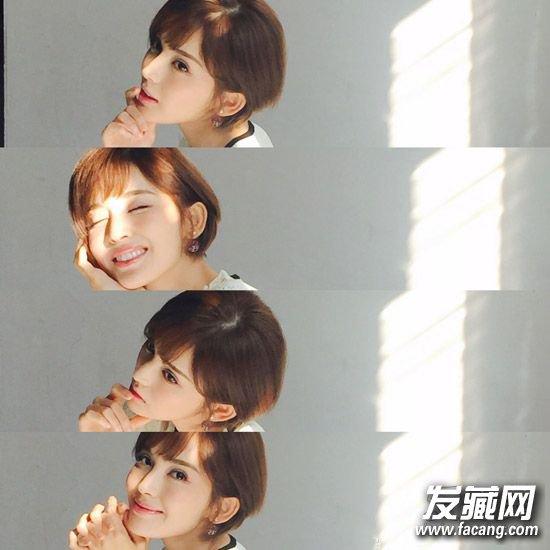 新作《柠檬初上》中的造型,韩式风格的齐耳短发变身都市女白领图片