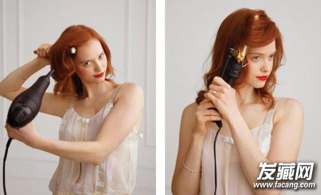 礼服盘头发的步骤及图片