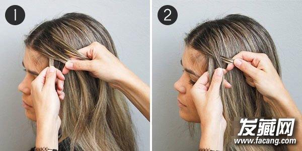 "DIY""为你带来一款极具古典气质的希腊女神辫,宛若优雅披纱,散发出你如空谷幽兰般的气质。    1、首先,发线从中间一分为二,从前额处取出一缕头发,将它们从左至右分成1、2、3三份,将最右侧的3绕到最下面。   2、将2叠加在1的上方。"