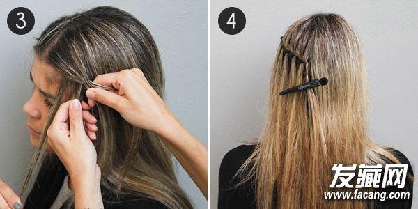> 长发编发教程 三分钟diy希腊女神辫(3)  导读:3,从下方的头发中再取