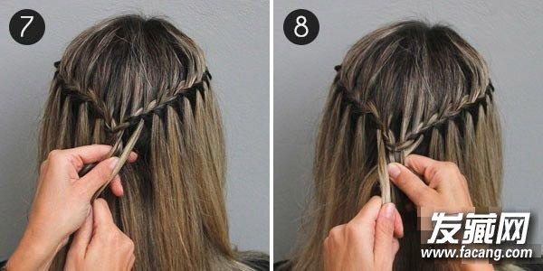 长发编发教程 三分钟diy希腊女神辫 编辫子发型图解