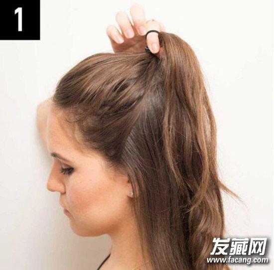 半扎丸子头发型扎法图解 半丸子头的扎法图解