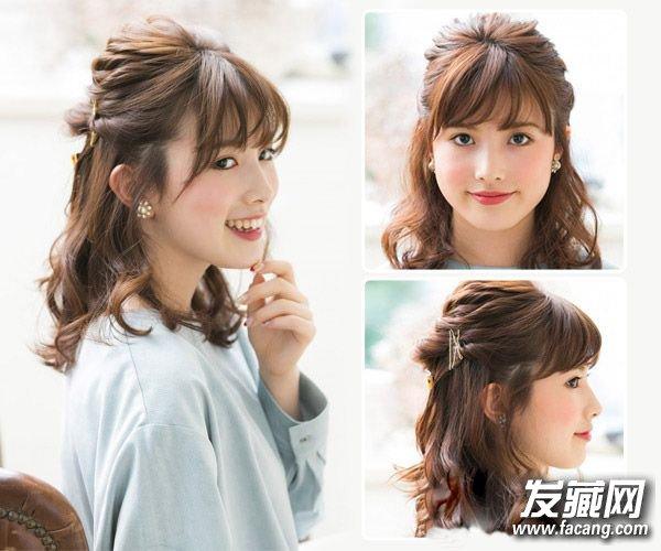 编织丸子头&发型头新年扭转可以派对半马尾军训梳什么时公主编织图片