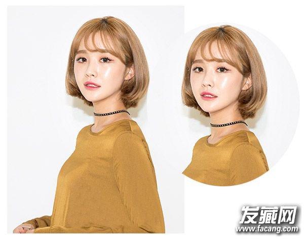 2016年流行什么短发 韩式可爱的蛋卷头发型(3)