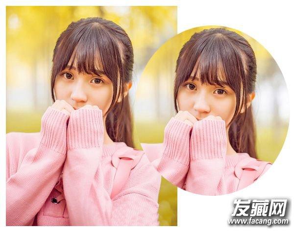 空气薄刘海配合高马尾 学生妹这样扎头发可爱翻倍图片