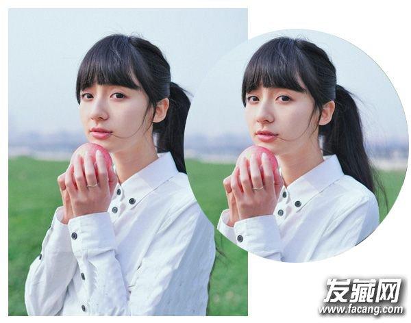 女生可爱发型 > 空气薄刘海配合高马尾图片