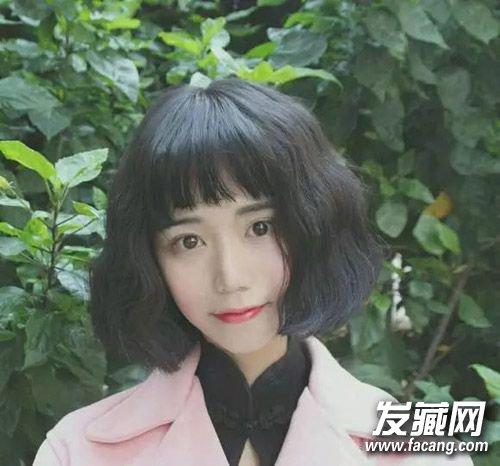 齐刘海短发太单调?图片