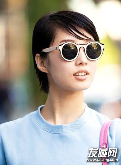 短发弄什么发型好看 超短发配上超短齐刘海(3)